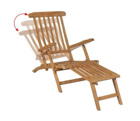 acheter vidaxl chaise longue avec repose pied teck 158 x 61 x 90 cm pas cher. Black Bedroom Furniture Sets. Home Design Ideas