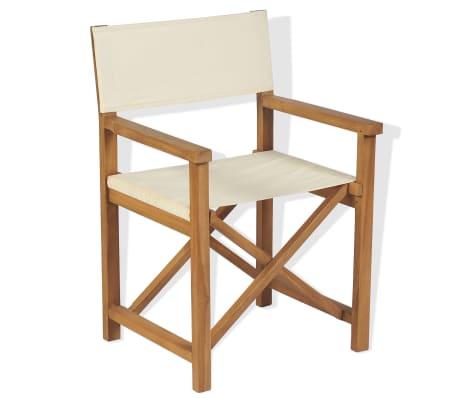 Sedie Da Regista In Legno Ikea.Vidaxl Sedia Da Regista Legno Di Teak Con Braccioli Seggiola