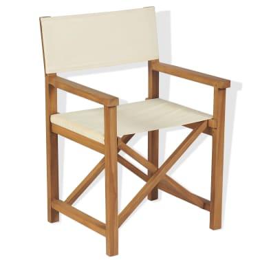 vidaXL Cadeira de realizador dobrável em madeira de teca maciça[1/10]
