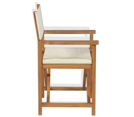 vidaXL Chaise pliable de metteur en scène Bois de teck solide[3/10]