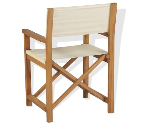 vidaXL Chaise pliable de metteur en scène Bois de teck solide[4/10]