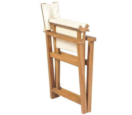 vidaXL Cadeira de realizador dobrável em madeira de teca maciça[5/10]