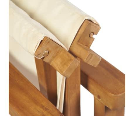 vidaXL Cadeira de realizador dobrável em madeira de teca maciça[7/10]