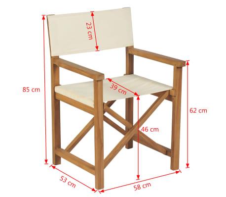 vidaXL Cadeira de realizador dobrável em madeira de teca maciça[10/10]