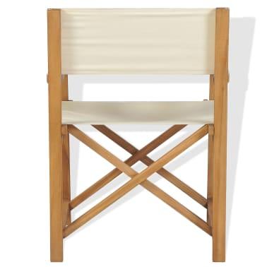 vidaXL Chaise pliable de metteur en scène Bois de teck solide[2/10]