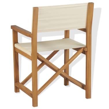 vidaXL Cadeira de realizador dobrável em madeira de teca maciça[4/10]