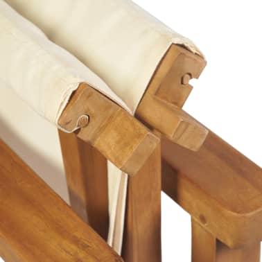 vidaXL Chaise pliable de metteur en scène Bois de teck solide[7/10]