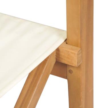 vidaXL Chaise pliable de metteur en scène Bois de teck solide[9/10]