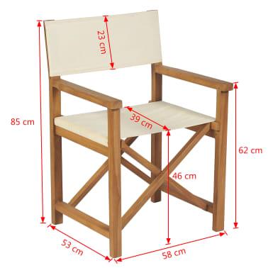 vidaXL Chaise pliable de metteur en scène Bois de teck solide[10/10]