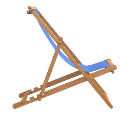 vidaXL Tumbona de teca 56x105x96 cm color azul[3/11]