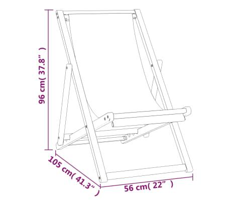 vidaXL Tumbona de teca 56x105x96 cm color azul[7/11]
