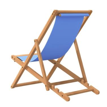 vidaXL Tumbona de teca 56x105x96 cm color azul[4/11]