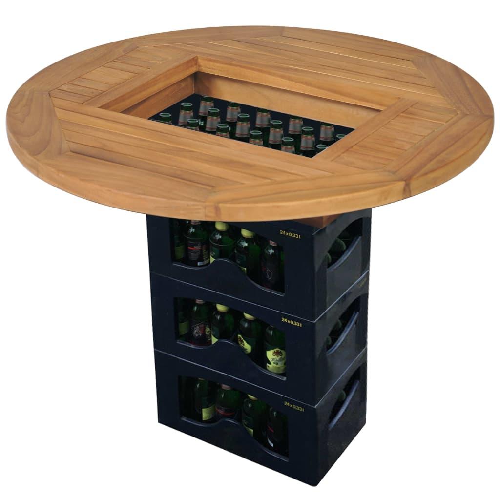vidaXL Blat de masă pentru lada de bere, 70 cm, lemn de tec poza vidaxl.ro