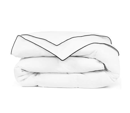acheter vidaxl couette courtepointe 4 saisons 200 x 220 cm blanc pas cher. Black Bedroom Furniture Sets. Home Design Ideas