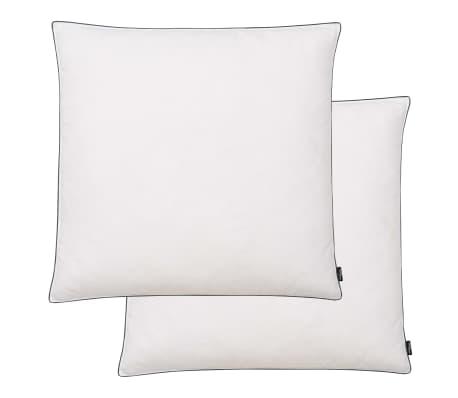 vidaXL Vankúše, 2 ks, náplň z páperia/peria, ťažké, 80 x 80 cm, biele