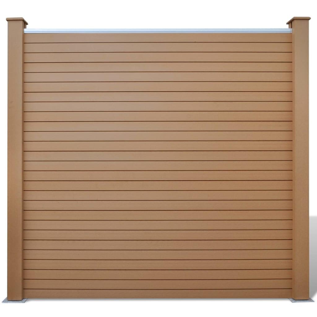 vidaXL Sada plotových dílců 1 čtvercový + 1 šikmý, dřevoplast