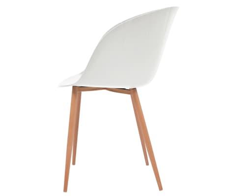 vidaXL Komplet 6 krzeseł, białe, plastikowe siedziska i stalowe nogi[4/6]