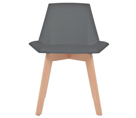 vidaxl esszimmerst hle 6 stk grau kunststoffsitz buchenholzbeine g nstig kaufen. Black Bedroom Furniture Sets. Home Design Ideas