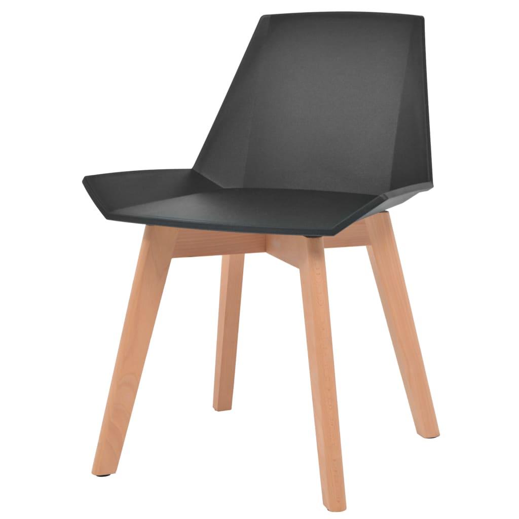 chaise de salle a manger 6 pcs noir