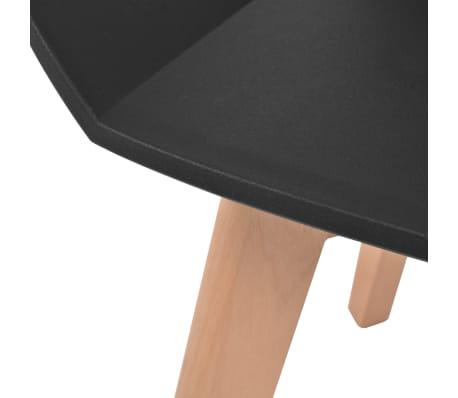 vidaXL Spisestoler 6 stk svart plastsete bøketreben[5/6]