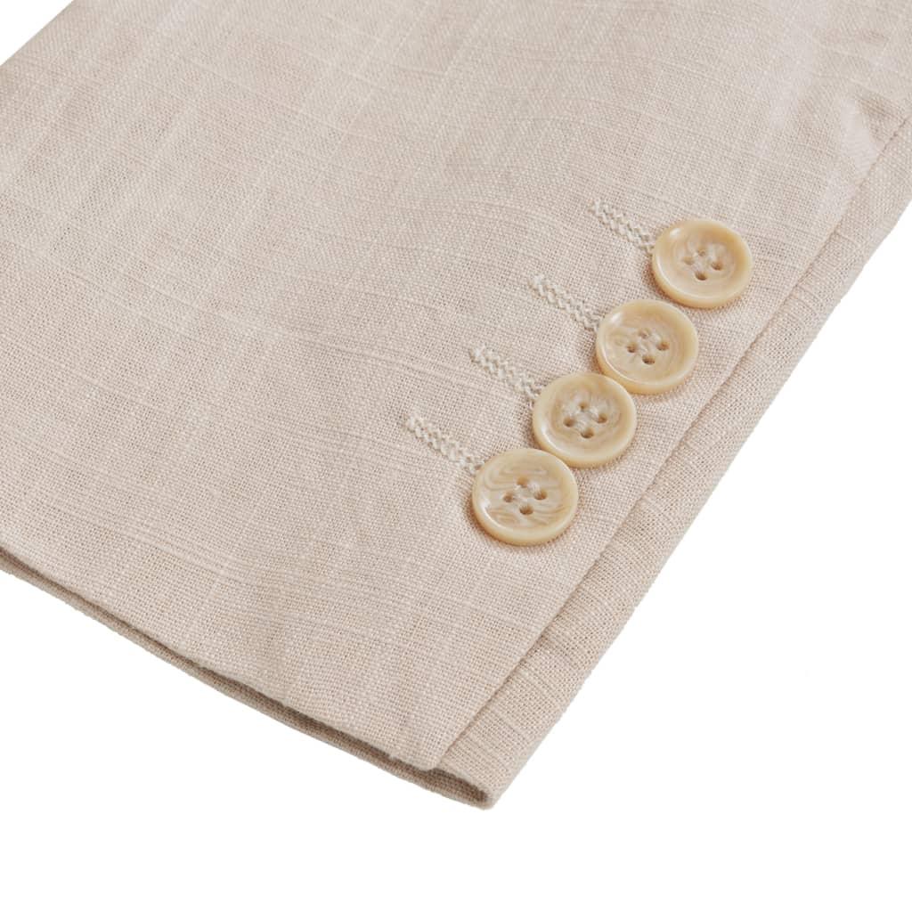 1d30b7c4abb vidaXL kaheosaline meeste linane ülikond, suurus 46, beež