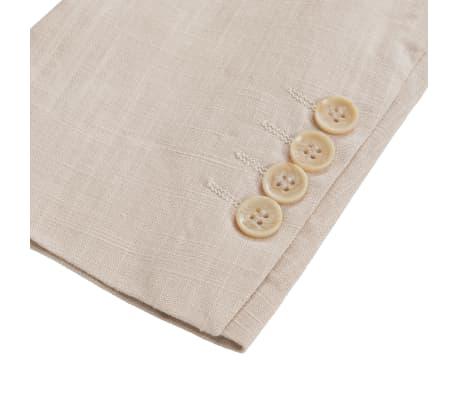 c43581a4 Shop vidaXL jakkesæt til herrer 2 dele lærred størrelse 48 beige ...