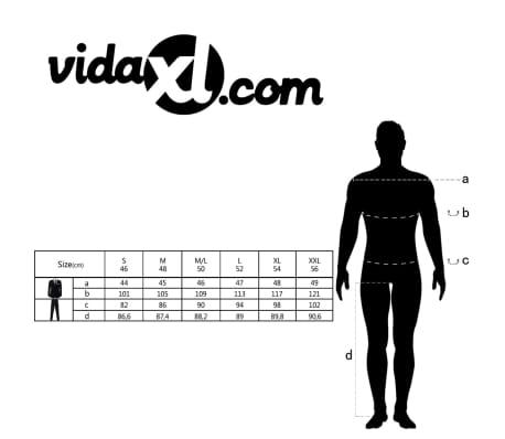 0cac5bb0 vidaXL jakkesæt til herrer i 2 dele lærred størrelse 48 mørkegrå[10/10]