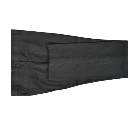 vidaXL Lniany garnitur męski, 2-częściowy, rozmiar 50, ciemnoszary[4/10]
