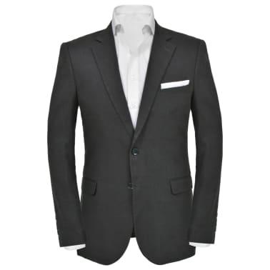 vidaXL Lniany garnitur męski, 2-częściowy, rozmiar 50, ciemnoszary[3/10]