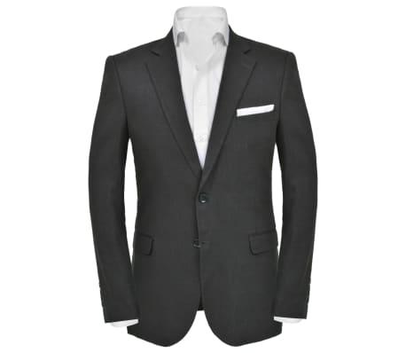 vidaXL Lniany garnitur męski, 2-częściowy, rozmiar 52, ciemnoszary[3/10]
