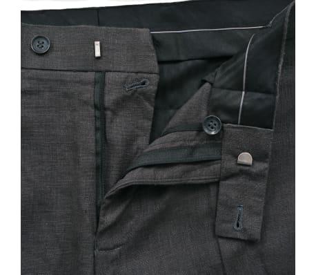 vidaXL Lniany garnitur męski, 2-częściowy, rozmiar 52, ciemnoszary[9/10]