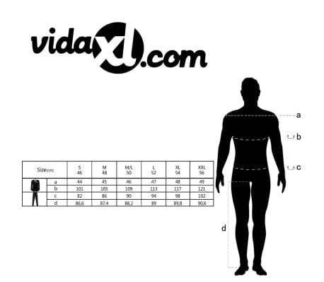 vidaXL Complet à 2 pièces Lin Taille 52 Gris foncé[10/10]