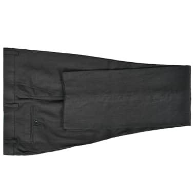 vidaXL Lniany garnitur męski, 2-częściowy, rozmiar 52, ciemnoszary[4/10]