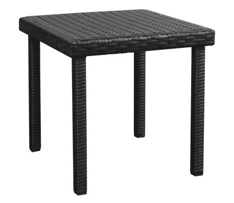 vidaXL Ligbed met tafel set poly rattan zwart 5-delig[8/11]