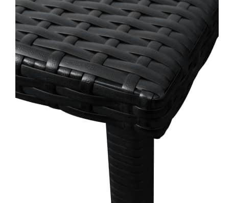 vidaXL Jeu de chaises longues avec table 5 pcs Résine tressée Noir[9/11]