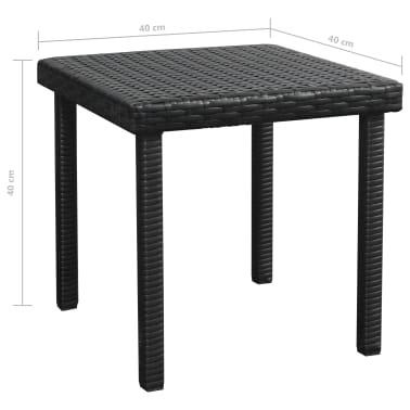 vidaXL Ligbed met tafel set poly rattan zwart 5-delig[11/11]