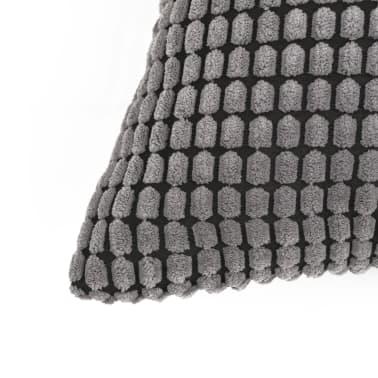 vidaXL Set Jastuka 2 kom od Velura 60x60 cm Sivi[3/5]