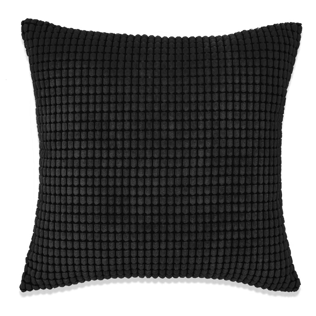vidaXL Sada polštářů 2 ks velur, 45 x 45 cm, černé