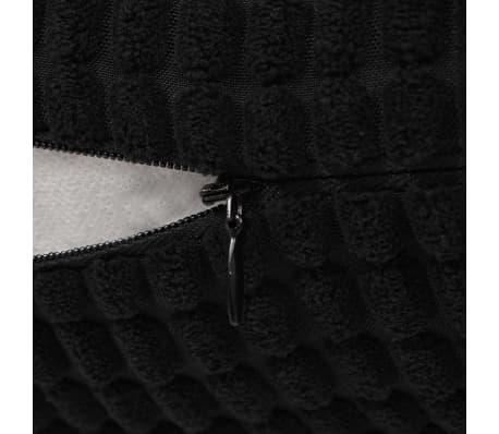 vidaXL Set Jastuka 2 kom od Velura 45x45 cm Crni[5/5]