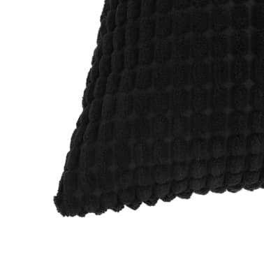 vidaXL Set Jastuka 2 kom od Velura 45x45 cm Crni[3/5]