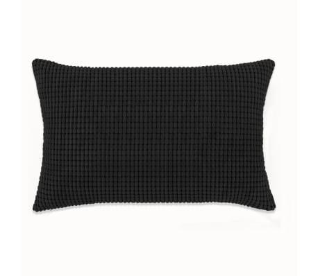 vidaXL Set Jastuka 2 kom od Velura 40x60 cm Crni[2/5]