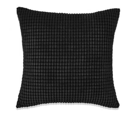 vidaXL Set Jastuka 2 kom od Velura 60x60 cm Crni[2/5]