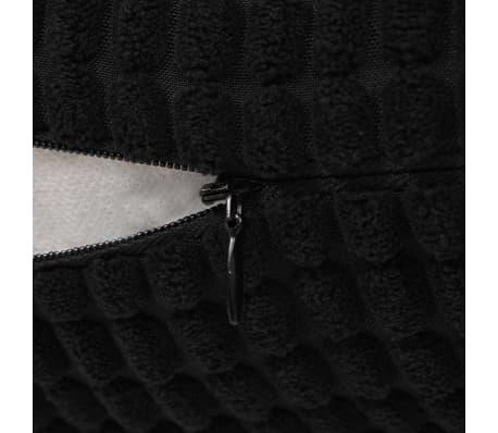 vidaXL Kissen-Set 2 Stk. Velours 60 x 60 cm Schwarz[5/5]