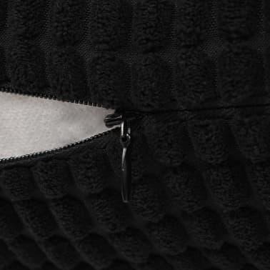 vidaXL Set Jastuka 2 kom od Velura 60x60 cm Crni[5/5]