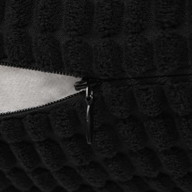 vidaXL Sierkussenset 60x60 cm velours zwart 2-delig[5/5]