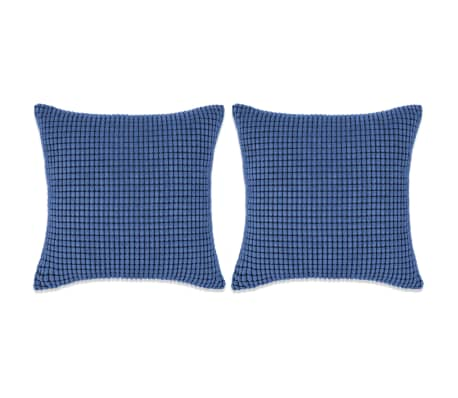 vidaXL Cojines de terciopelo 45x45 cm azul 2 unidades