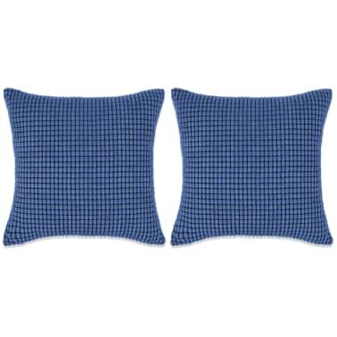 vidaXL Set Jastuka 2 kom od Velura 45x45 cm Plavi[1/5]