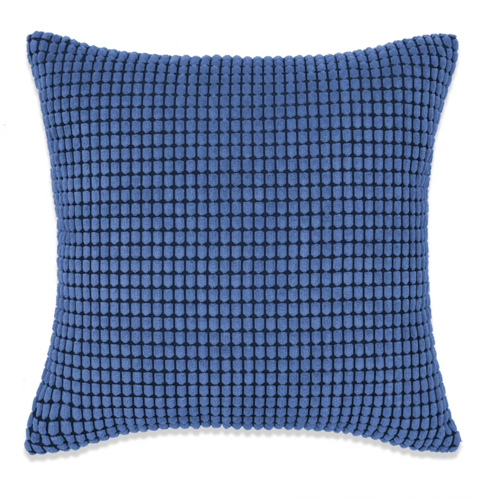 vidaXL Sada polštářů 2 ks velur, 45 x 45 cm, modré