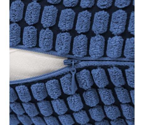 vidaXL Set Jastuka 2 kom od Velura 45x45 cm Plavi[5/5]