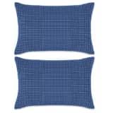 vidaXL Conjunto de 2 almofadas em veludo 40x60 cm azul